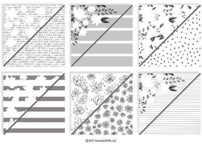 Concord & 9th FLORAL FILL-IN Patterned Paper Pad