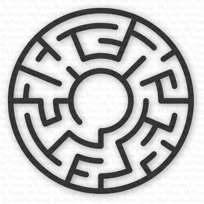 My Favorite Things BLACK Maze Shapes Embellishments