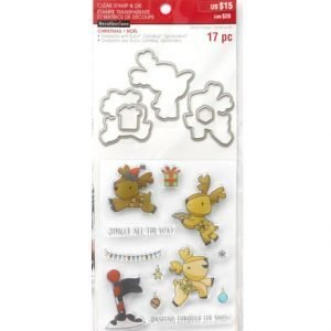 Recollections REINDEER Christmas Stamp & Die Set
