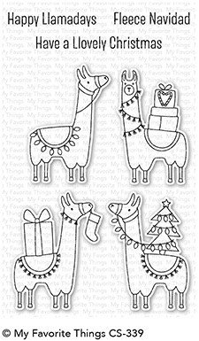 My Favorite Things HAPPY LLAMADAYS Clear Stamp Set