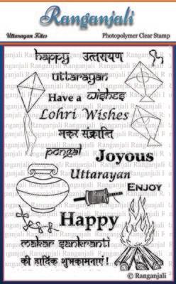 Ranganjali UTTARAYAN KITES Clear Stamp Set
