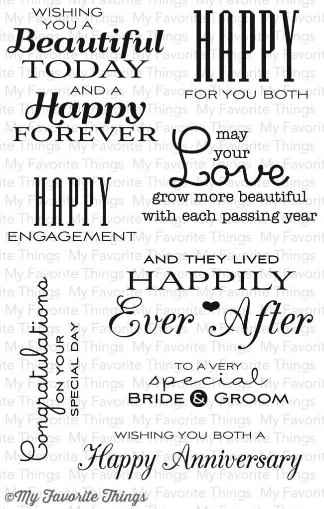 My Favorite Things TOGETHER FOREVER Clear Stamp Set