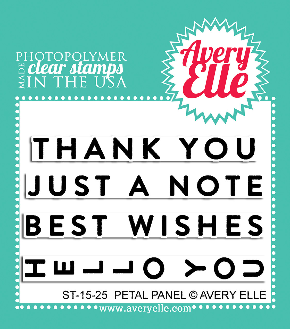 Avery Elle PETAL PANEL Clear Stamp Set