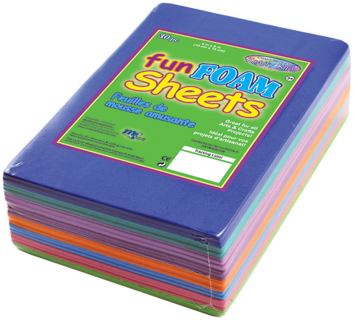 """Craft Medley Craft FUN FOAM Sheets 30/pkg 4""""X6"""""""