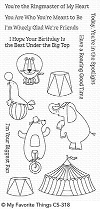 My Favorite Things THE GREATEST SHOW Clear Stamp Set