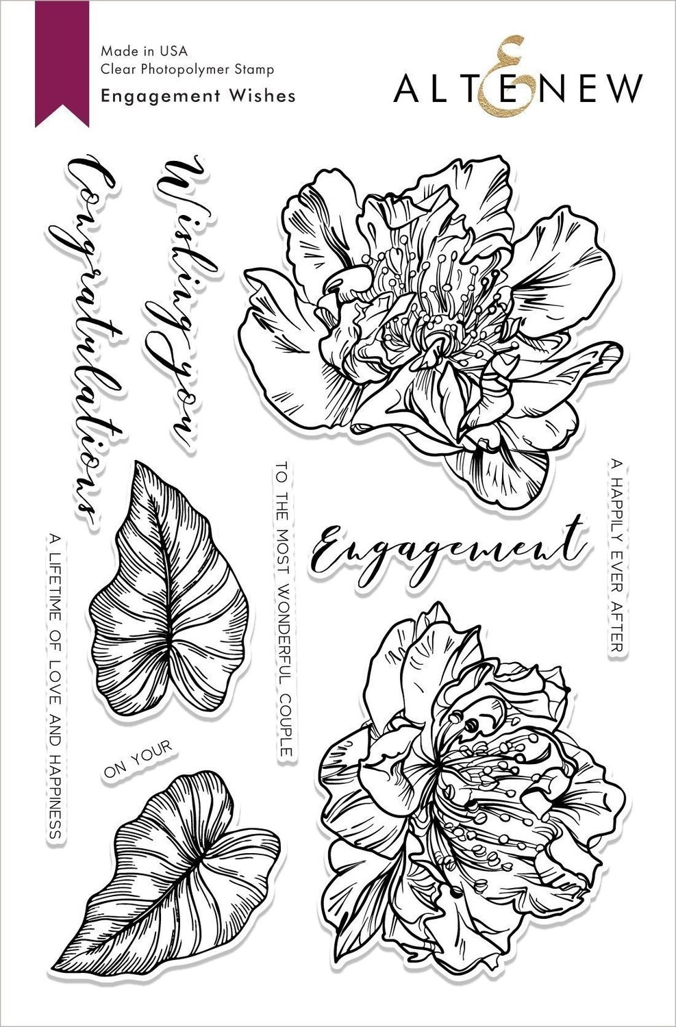 Altenew ENGAGEMENT WISHES Clear Stamp Set