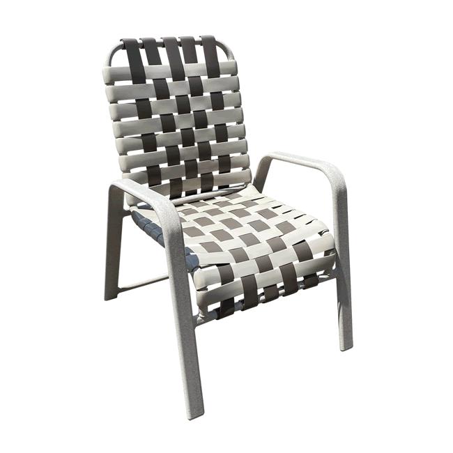 W50B Basketweave Strap Dining Chair