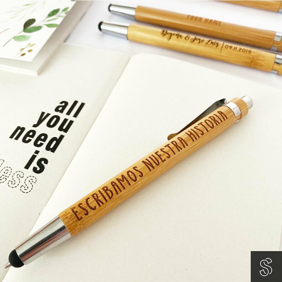 Bolígrafo de Bambú personalizado