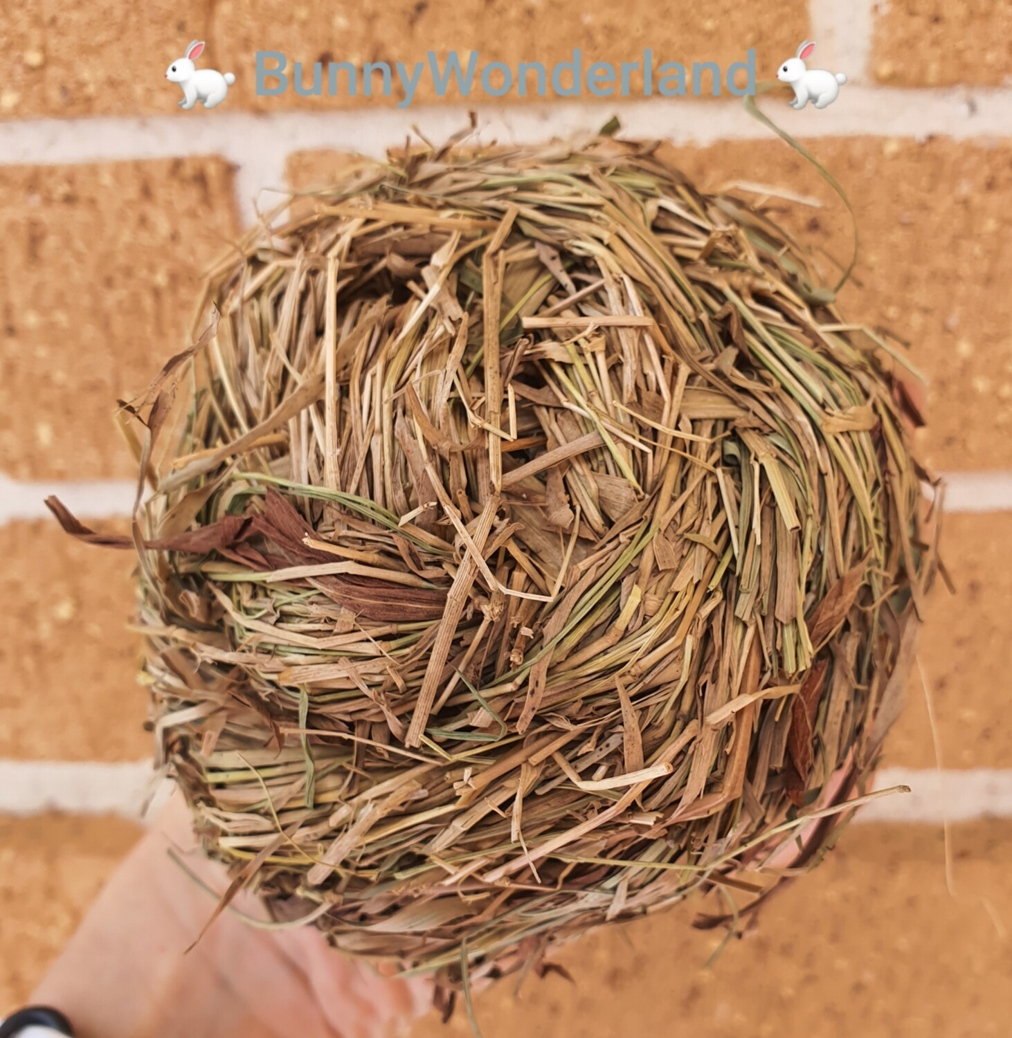 Woven Grass Ball with Bell (approx 10-11cm)