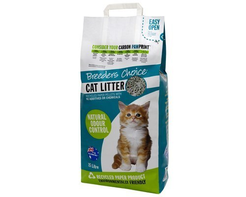 BREEDERS CHOICE CAT LITTER 15L (Paper Pellets)
