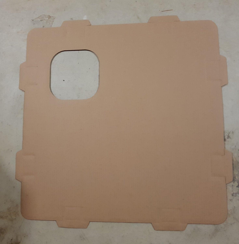 DIY Cardboard panel (Top/Floor)