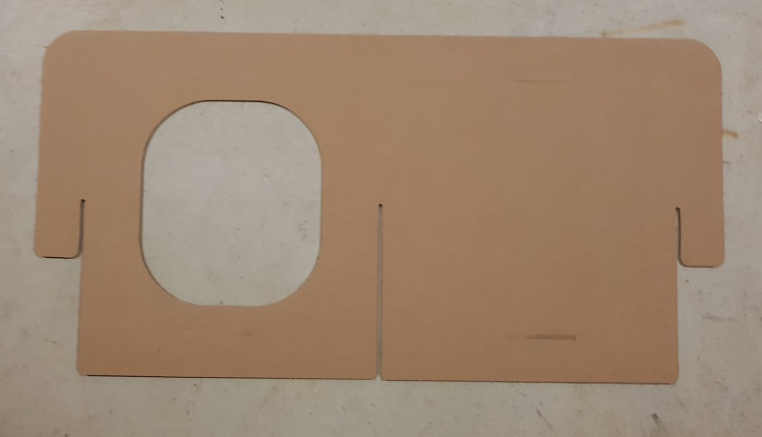 DIY Cardboard Panels (Sides/Middle)