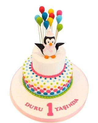 Pinguin Figur Torte