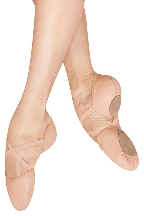 Balletschoenen met splitzool en elastiek (Canvas)
