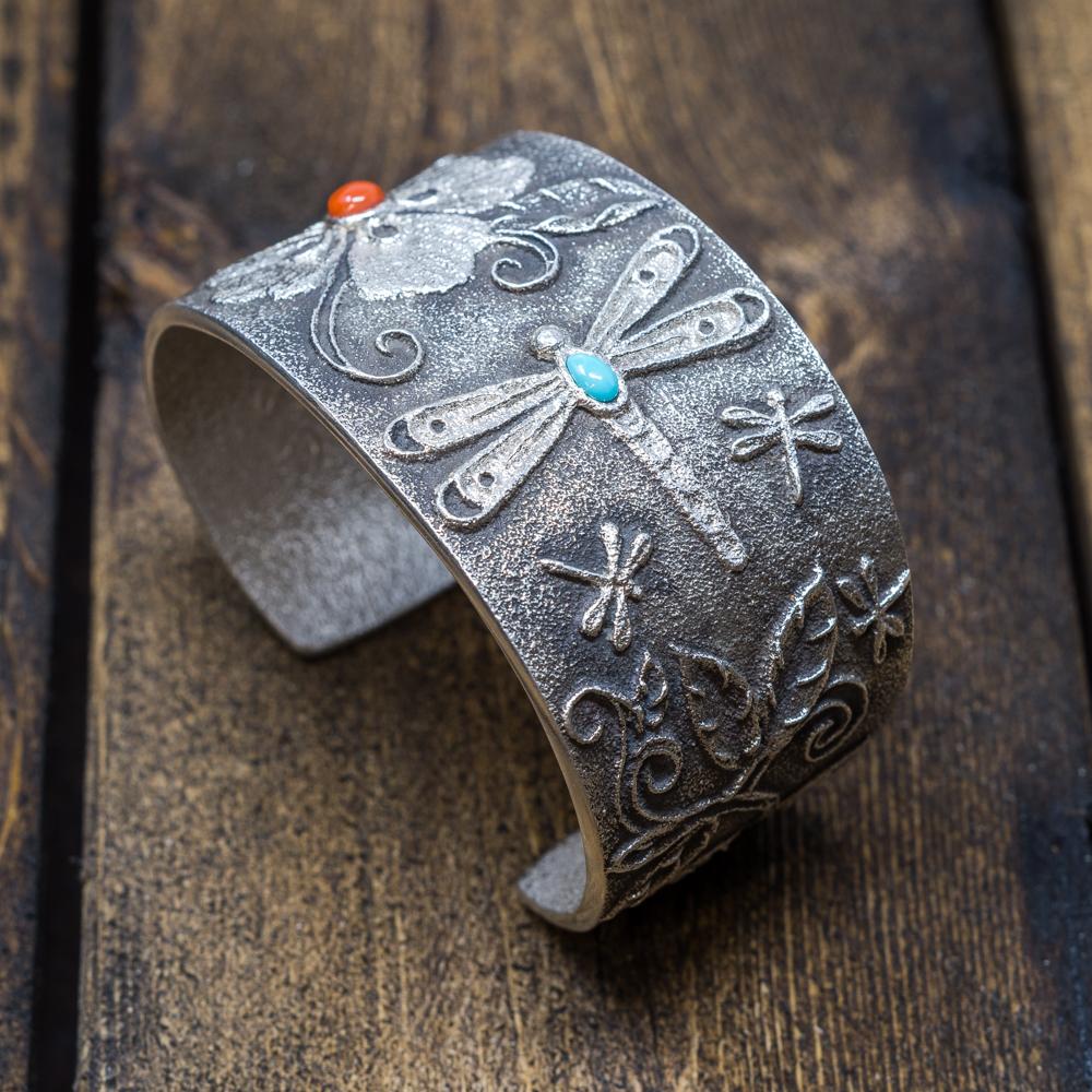Dragonfly & Flower Bracelet by Rebecca Begay JE200015
