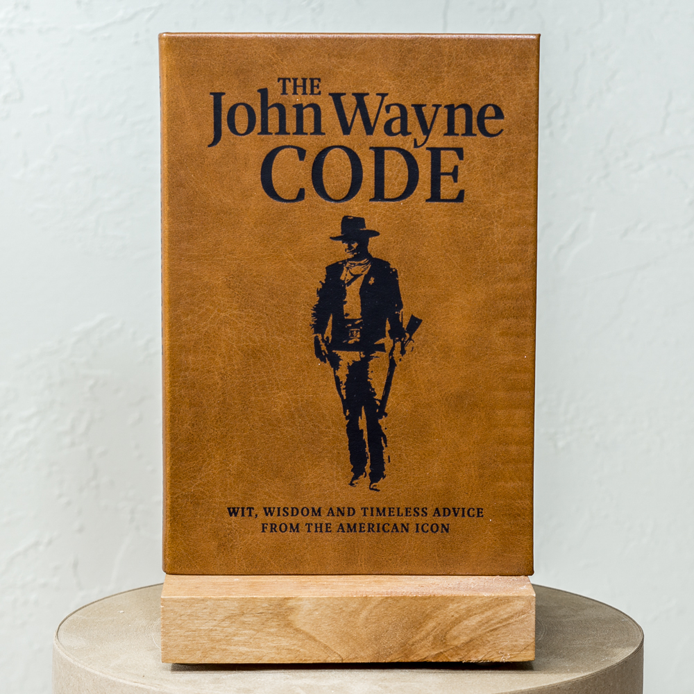 John Wayne Code Leather Bound Book SG200056