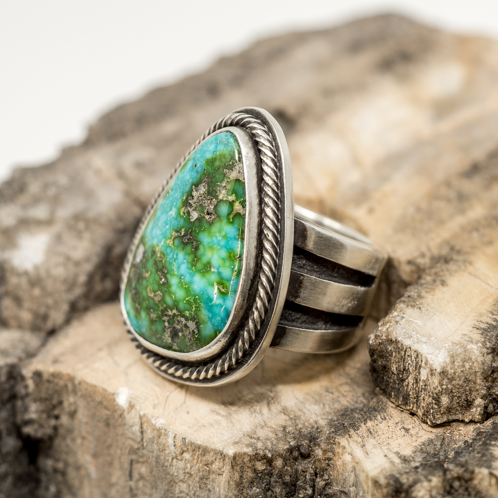 Sonoran Gold Turquoise Ring by Tommy Jackson JE200039