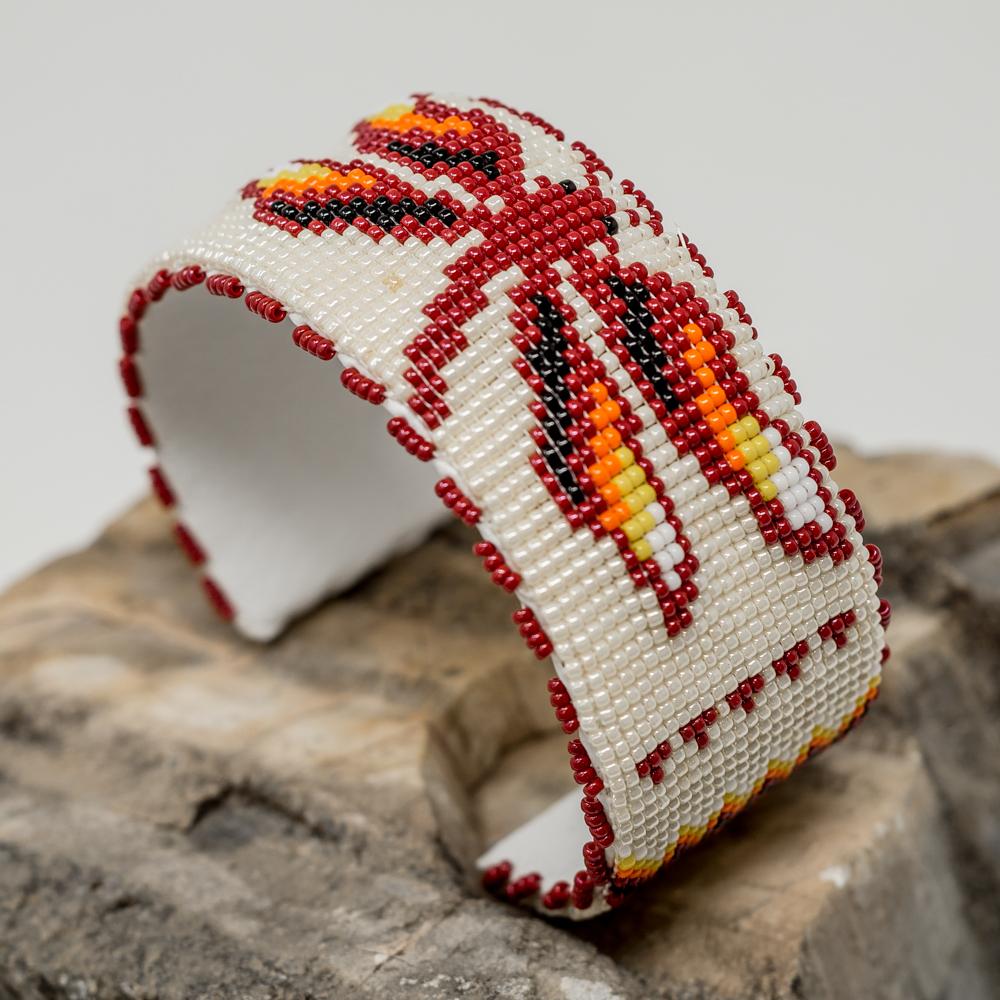 Apache Beaded Red Dragonfly Bracelet JE200042