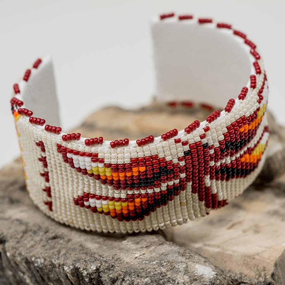 Apache Beaded Red Dragonfly Bracelet