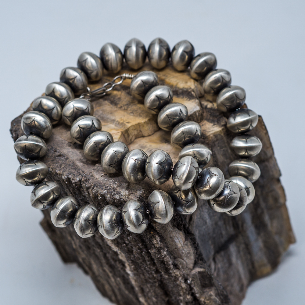 Stamped Navajo Pearl Necklace JE200066