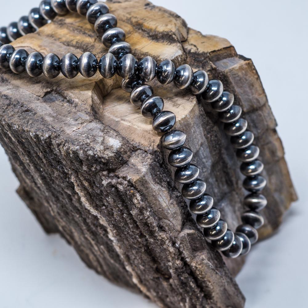 Patina'd Navajo Pearl Necklace
