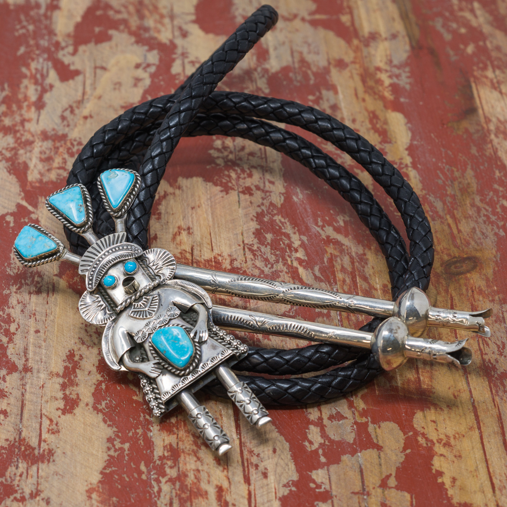 Sterling Silver & Turquoise Bolo by Garrett Hale