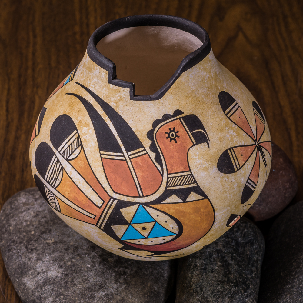 Acoma Pottery by Westly Begaye - Parrot GA200018