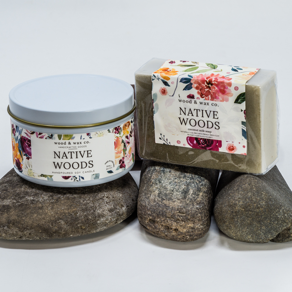 Native Woods Scented Candle & Soap Gift Set SG200084