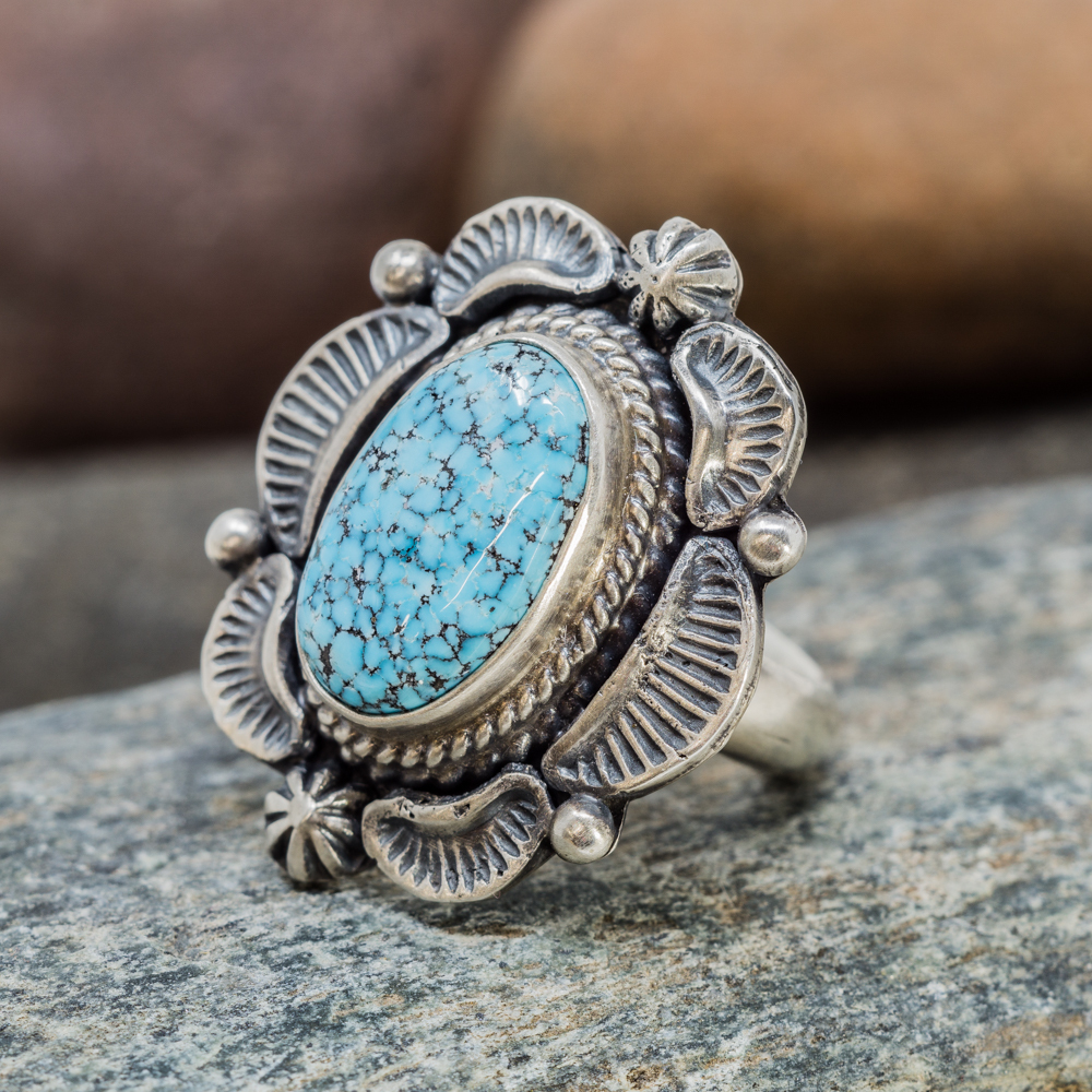 Waterweb Kingman Turquoise Ring in Sterling Silver JE200091
