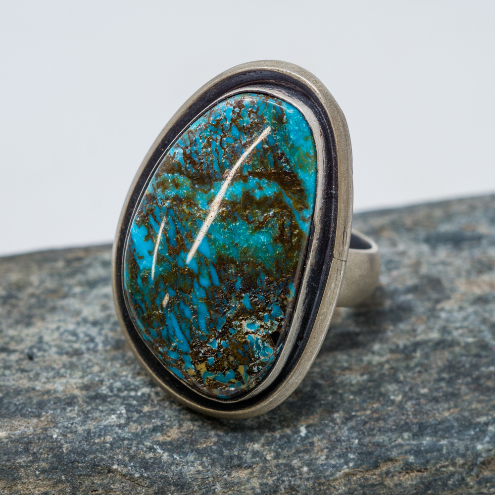 Deep River Chrysocolla Ring JE200105