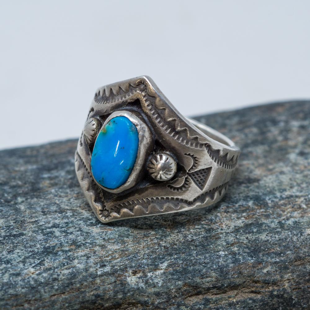 Sleeping Beauty Turquoise Ring JE200096