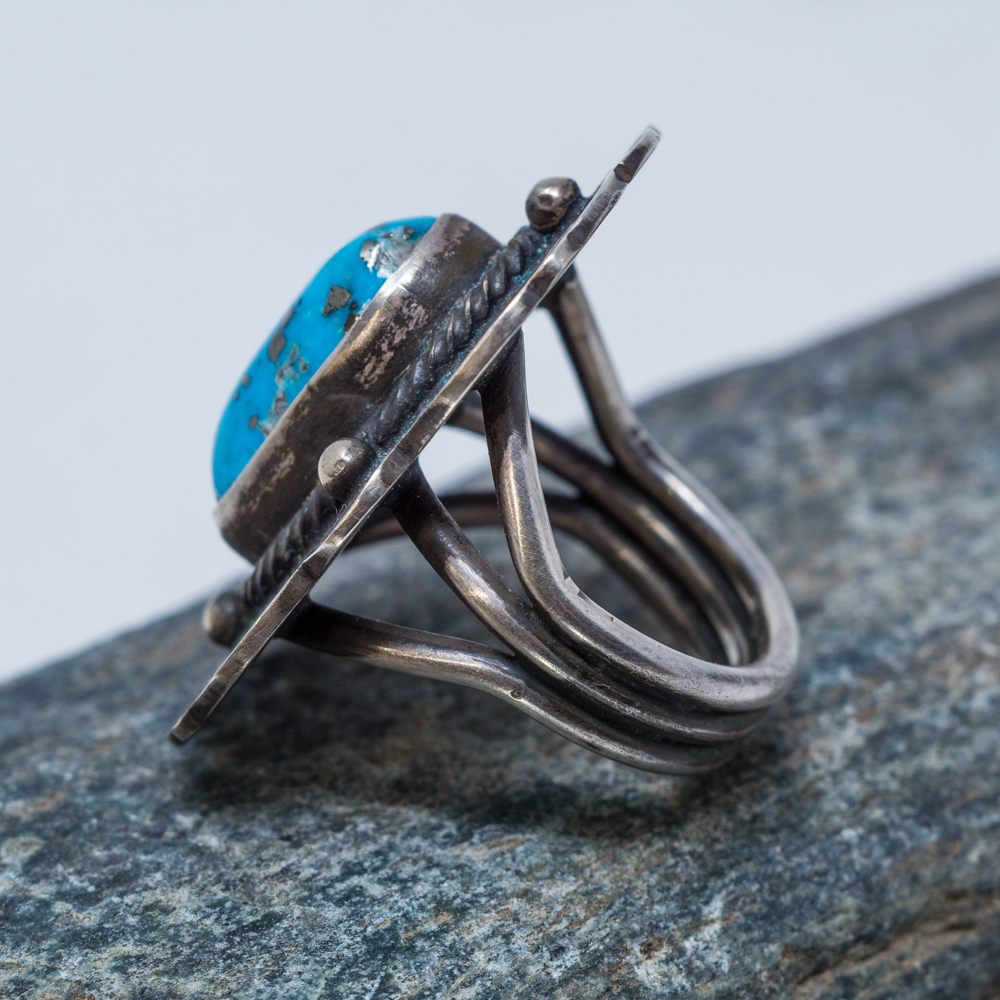 Morenci Turquoise Ring by Tommy Jackson