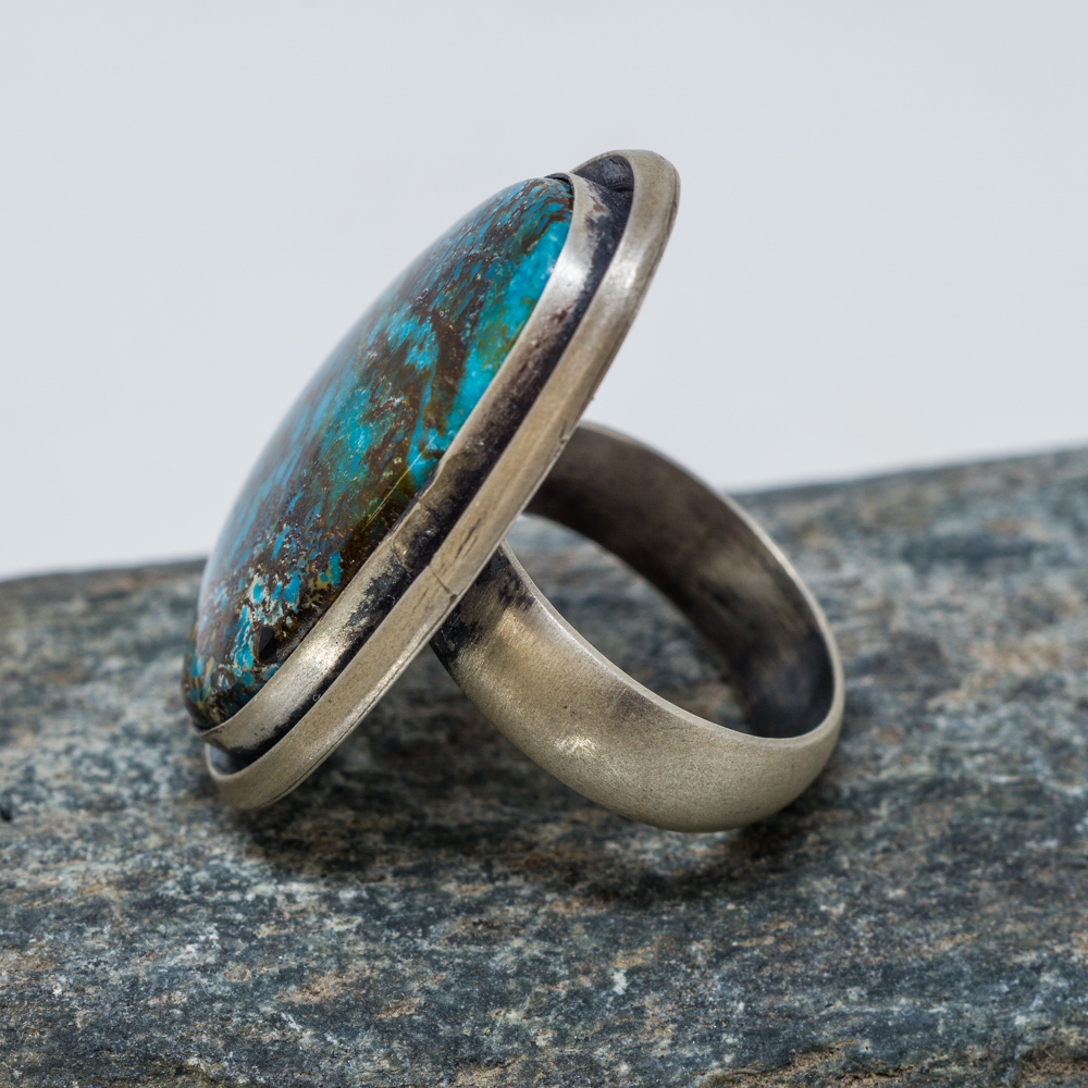Deep River Chrysocolla Ring