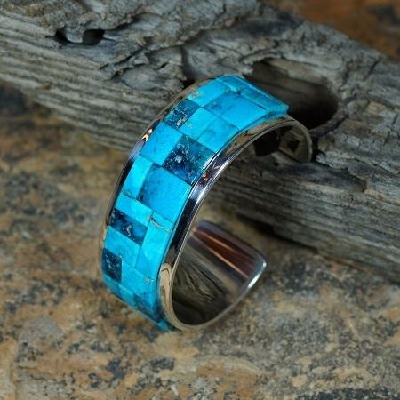 High Grade Morenci Turquoise Bracelet by Tommy Jackson JE160087