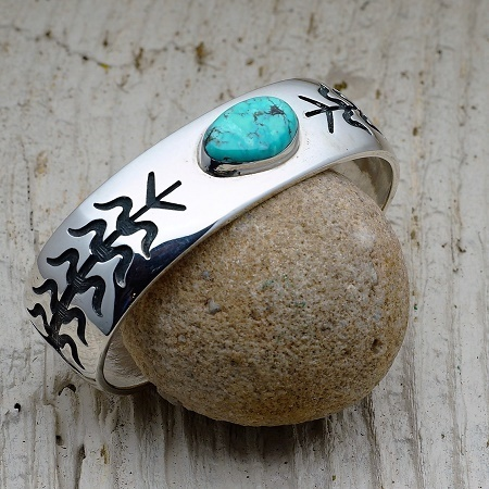 Sterling Silver/Turquoise Bracelet by Anderson Koinva JE160280