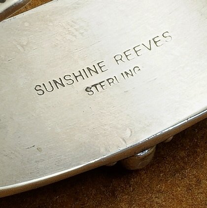 Sterling Silver Cuff Rainbow Design with Multiple Stones by Sunshine Reeves