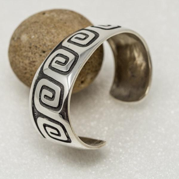 Anderson Koinva Sterling Silver Bracelet - Whirlwind Design