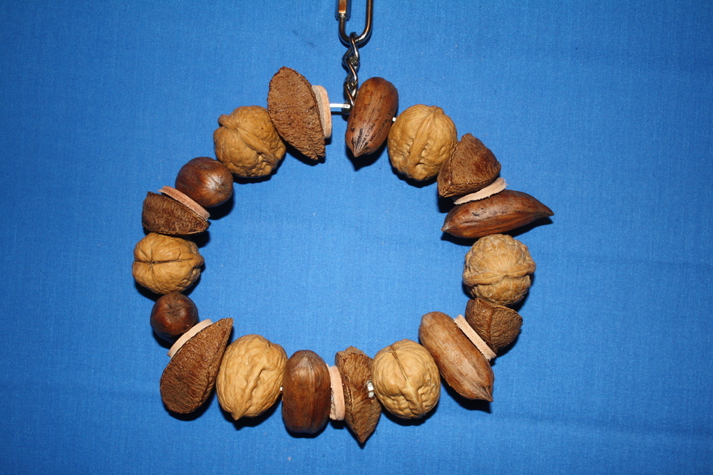Lg. Mixed Nuts and Leather