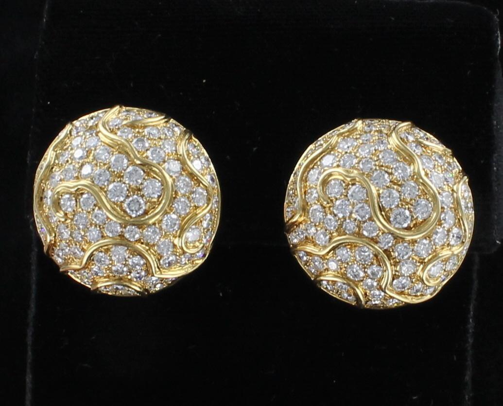 18KT 5.0 CT TW DIAMOND EARRINGS
