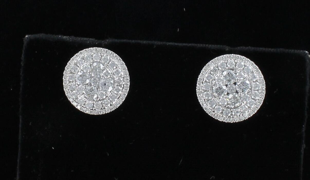 18KT 3.27 CT TW DIAMOND EARRINGS