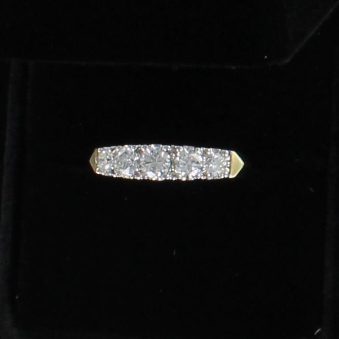 14KT 1.0 CT TW DIAMOND BAND