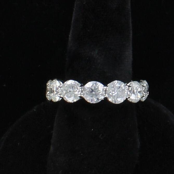 PLATINUM 9.35 CT TW ROUND BRILLIANT DIAMOND ETERNITY BAND, SZ 7