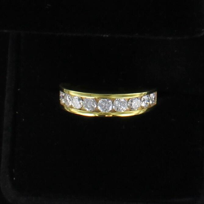 14KT 1.0 CT TW ROUND BRILLIANT DIAMOND BAND