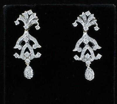14KT/T 2.75 CT TW DIAMOND EARRINGS