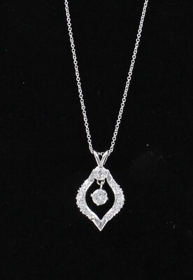 14KT .75 CT TW DIAMOND NECKLACE