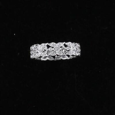 18KT .75 CT TW DIAMOND BAND, SZ 6.5