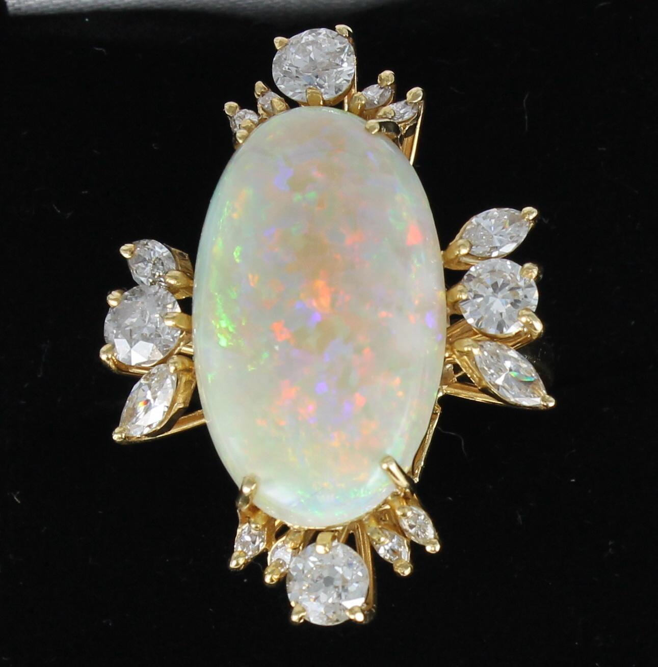 OPAL DIAMOND RING / PENDANT