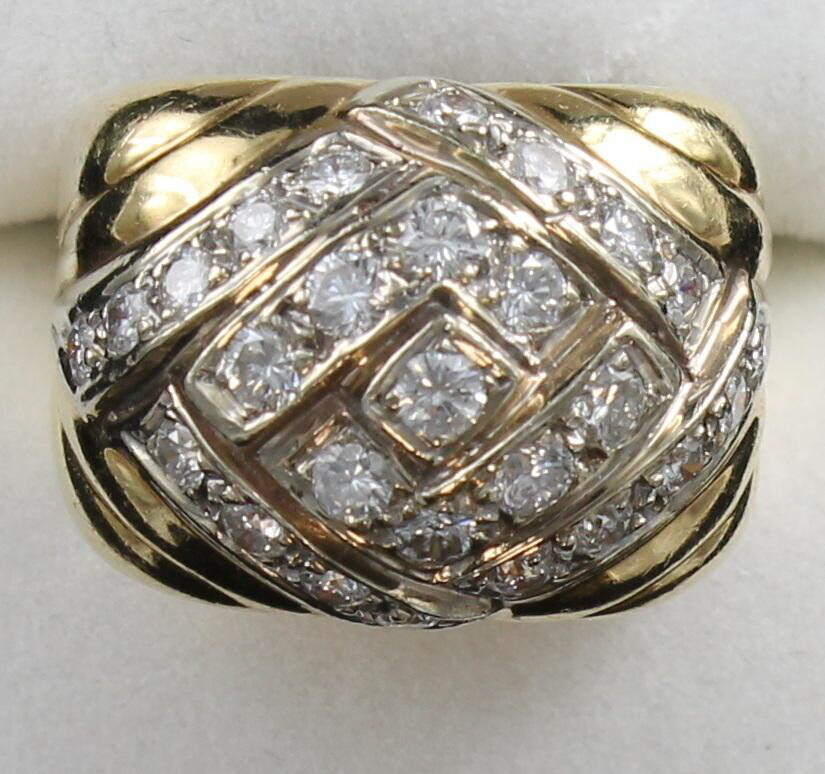 14 KT YELLOW GOLD DIAMOND BAND