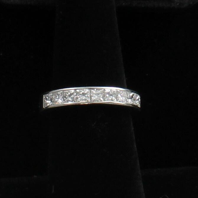 PLATINUM PRINCESS-CUT DIAMOND BAND