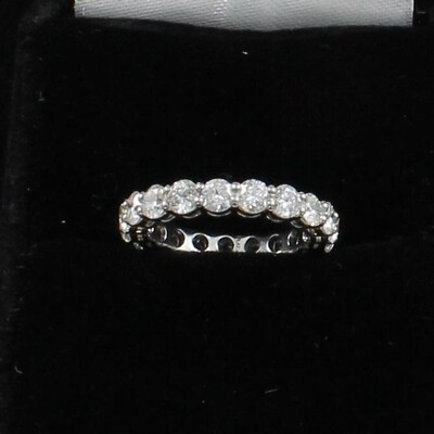 PLATINUM DIAMOND ETERNITY BAND,  SIZE 6